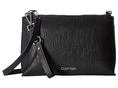 Calvin Klein Sonoma Bubble Lamb Novelty Crossbody (Black/Silver) Handbags