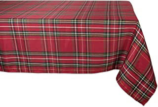DII CAMZ10908 Rectangular Tablecloth, Perfect for Dinner Parties, Christmas, Everyday Use, 60x84, Holiday Metallic Plaid