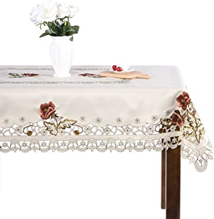 Best floral embroidery tablecloth Reviews