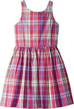 Madras Plaid Cotton Dress (Big Kids)