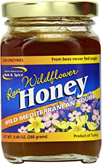 North American Herb and Spice, Wild Mediterranean Flower Honey, 9.4 Ounce
