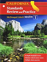 Math Standards Review and Practice Course 1 Grades 6-8: Mcdougal Littell Middle School Math California