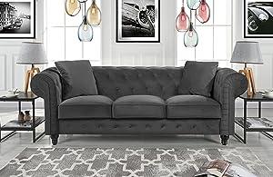 Divano Roma Classic Sofas, Large, Grey