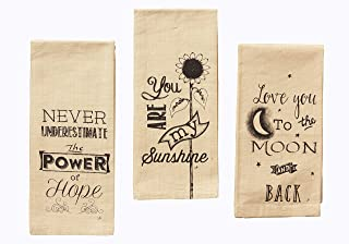 Your Heart's Delight Your Power of Hope, Sunshine, to The Moon Tea Towels, Multi