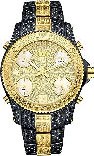 elgin men's oversized glitz cross watch