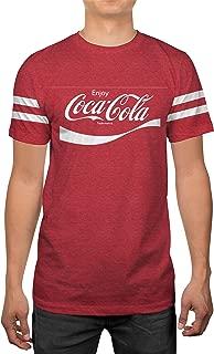 Classic Coca-Cola Coke Logo Mens Red Heather T-Shirt