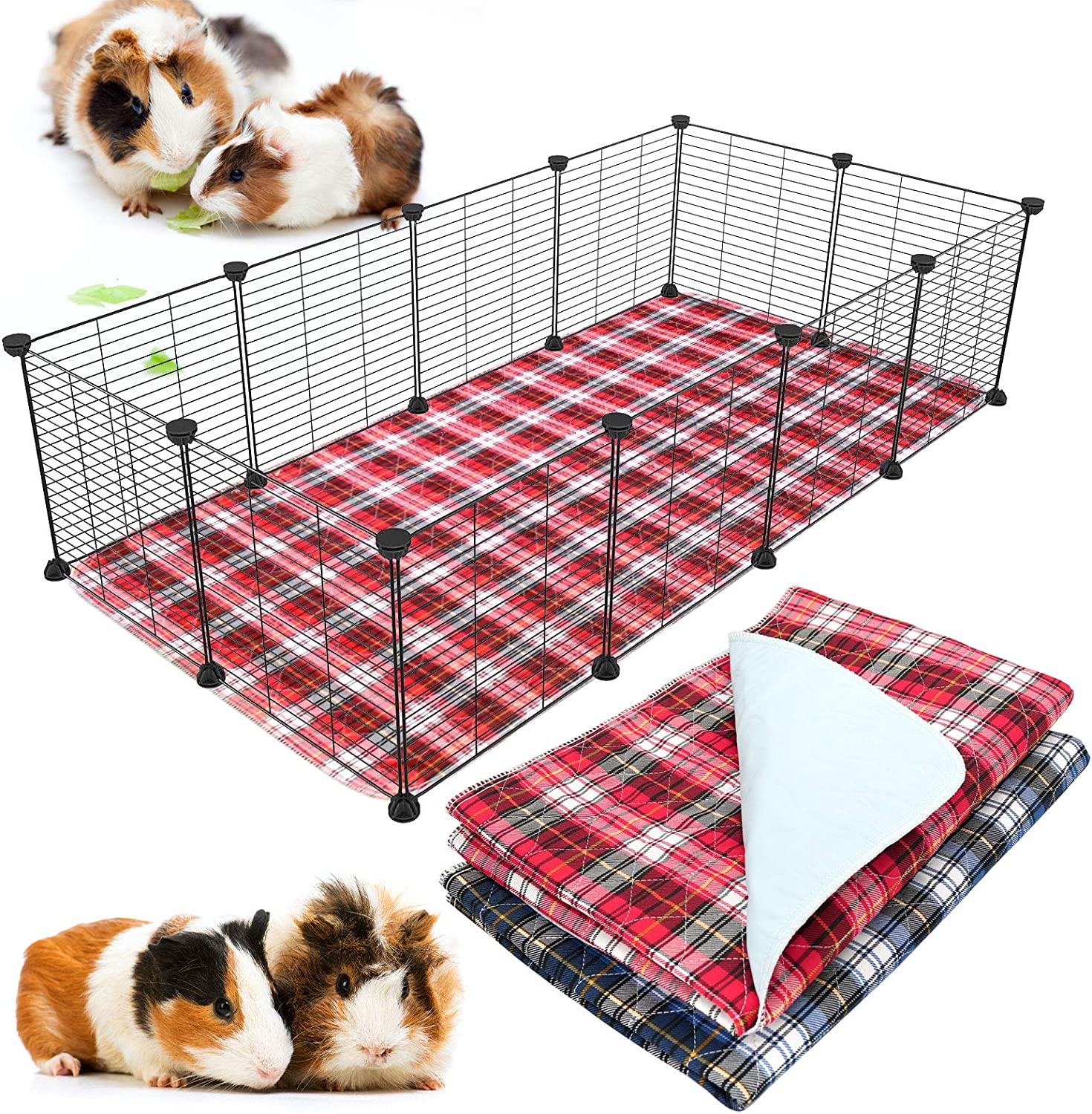 BWOGUE Special price for a limited time 2 Bargain Pack Guinea Pig Cage Washable Bedding Liners