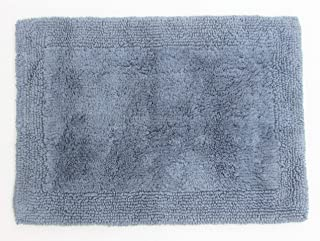 Grund Puro Series 100% Organic Cotton Reversible Bath Rug, 17-inch by 24-inch, Sea Blue