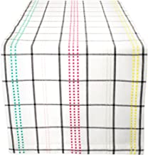 "Color Pop Plaid 100% Cotton Table Runner (14x108"")"