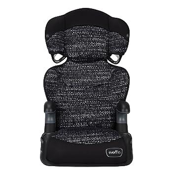 Evenflo Big Kid AMP High Back Booster Car Seat, Static Black: image