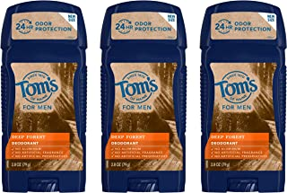 Tom's of Maine Men's Long Lasting Wide Stick Deodorant, Deodorant for Men, Natural Deodorant, Deep Forest, ...