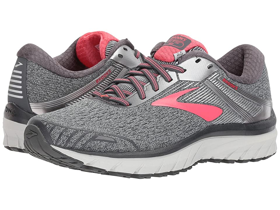 1b7ce9312cb Brooks Adrenaline GTS 18 (Ebony Silver Pink) Women s Running Shoes