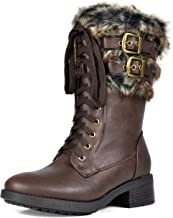 DREAM PAIRS Womens Faux Fur Mid Calf Riding Winter Snow Boots