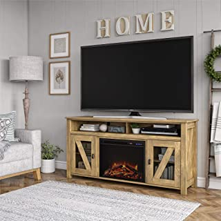 REALROOMS Brocketts Fireplace TV Stand for TVs up to 60