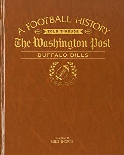 Personalized Football Newspaper Book- Your Teams Football History Captured in Time- Copy of Your Teams Special Moments in a Bound Hard Back