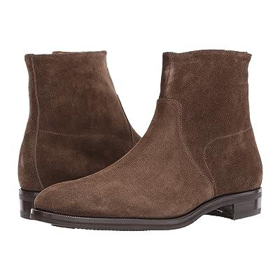 Gravati Size Zip Plain Toe Suede Boot (Olive) Men