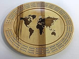World Map Cribbage Board