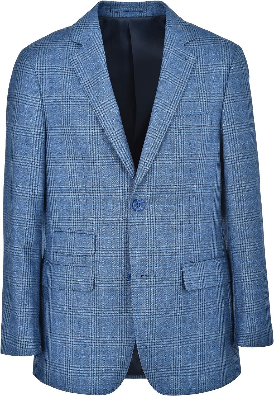 Ike Behar Boys Blazer Coat Kids Jacket Royal Blue Navy Plaid
