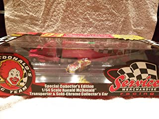 Racing Champions #94 Bill Elliott Special Edition 1/64 Scale, 1998 Ronald McDonald Transporter & Gold-Chrome Collector's Car (Adult Collectible)