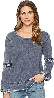 Allen Allen Womens Lantern Sleeve Shirt with Ruffle