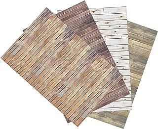 Ella Bella Photography Backdrop Paper, Assorted Wood (1 ea.: Vintage, Sable, Rustic & White Washed), 48