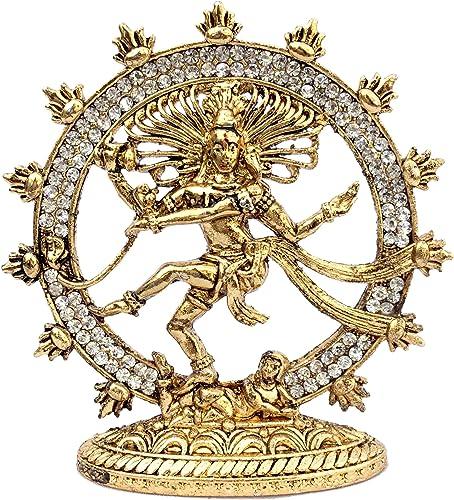 Discount4product Lord Shiva Natraj Car Dashboard Idol (Multicolour)