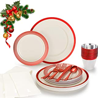 Best disposable christmas dinner plates Reviews