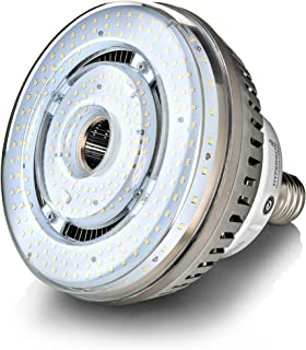 HyperSelect High Bay LED UFO Light, Large Mogul E39 Base, 115W (500W Equivalency) 16000 Lumens, 5000K (Crystal White) Super Bright Warehouse Area Lighting, UL & DLC