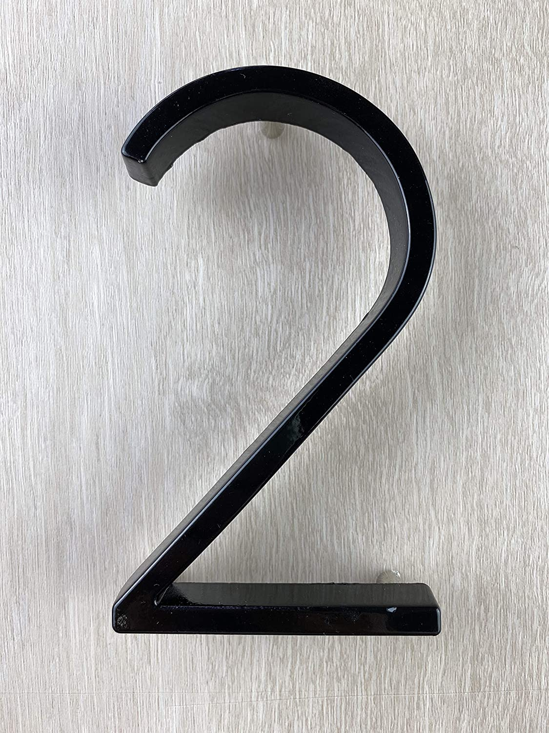 Modern House Numbers with Black Floating Mount Two 5-inch Street Address Number