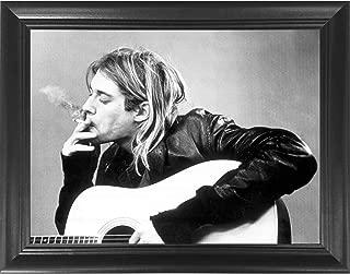 Framed Kurt Cobain Nirvana Abstract 9X11 Art Print Limited Edition w//signed COA