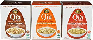 Qia Superfood Gluten Free Oatmeal Variety, 8 Oz (Pack of 3)