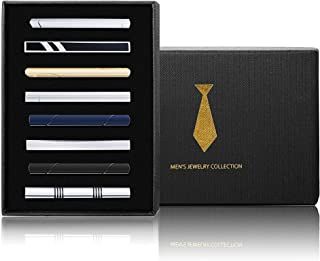 Yadoca Tie Clips Set for Men Tie Bar Clip Black...