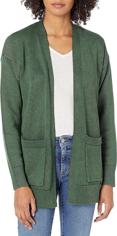 Goodthreads Women's Mineral Wash Open Cardigan Sweater
