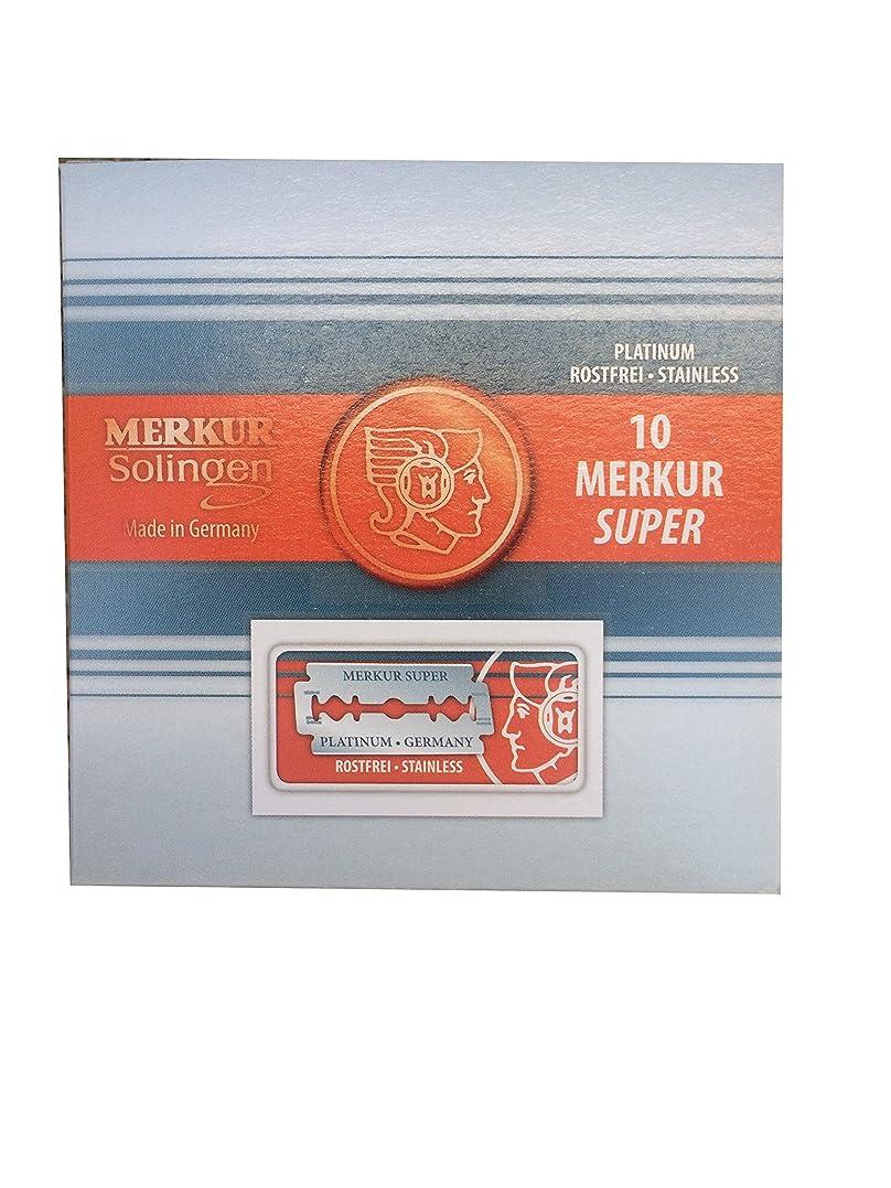 興奮失う絶壁Merkur Super Platinum 両刃替刃 100枚入り(10枚入り10 個セット)【並行輸入品】