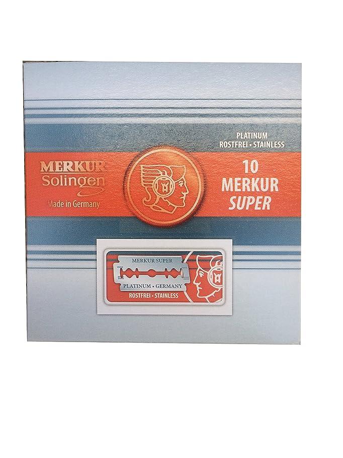 襟自分の飾り羽Merkur Super Platinum 両刃替刃 100枚入り(10枚入り10 個セット)【並行輸入品】