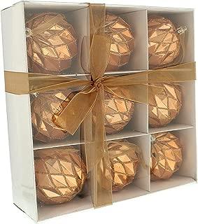Festive PRODUCCIONES Bolas geométricas Brillantes en una Caja de Papel Blanco, Azul, Microfibra, Oro Rosa, 24 x 8 x 24 cm