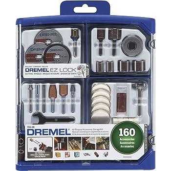 Dremel 710-08 Kit de accesorios de todo propósito para herramienta giratoria, 160 piezas, 710-08, Set de accesorios, 1