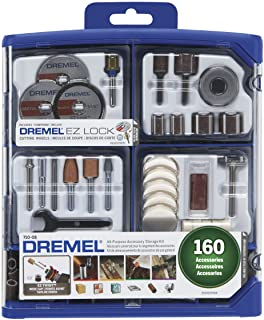 Dremel Rotary Tool Accessory Kit- 710-08- 160 Accessories- EZ Lock Technology- 1/8 inch..