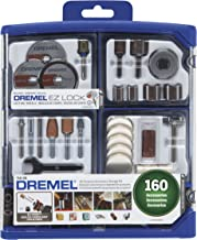 Dremel Rotary Tool Accessory Kit- 710-08- 160 Accessories- EZ Lock Technology- 1/8 inch Shank- Cutting Bits, Polishing Wheel and Compound, Sanding Disc and Drum, Carving, Sharpening, and Engraving