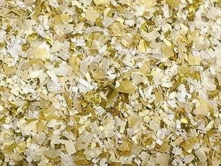 White Gold Confetti Mix Biodegradable Wedding Party Decor (50g/1.8oz)