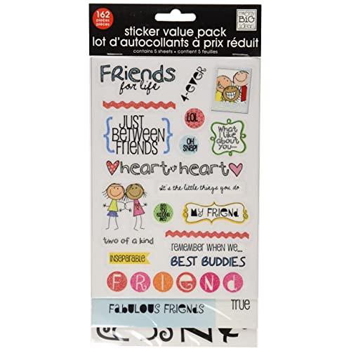 Me /& My Big Ideas Sayings Stickers-friendship Quotes 12//pkg
