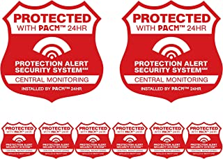 2 Home security alarm system signs with 6 matching weatherproof security system stickers