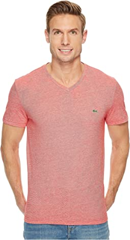 Lacoste - V-Neck Stripe T-Shirt