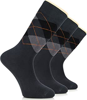 mens yellow argyle socks