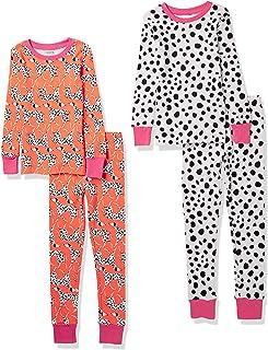 Amazon Essentials Girls' Snug-fit Cotton Pajamas Sleepwear Sets