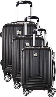 Morgan Corossol Valise de Voyage Rigide ABS à 8 roulettes pivotantes Set de 3 Valises (55 Cm 39 litres, 65 cm 62 litres, 7...