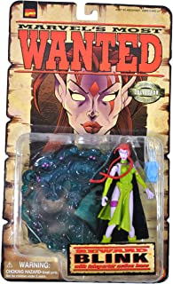 Marvel Comics Year 1998 Collector Editions Marvel's Most Wanted Series 5 Inch Tall Action Figure Set - BLINK with Teleporter Action Base