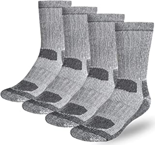 Buttons & Pleats Wool Socks for Men & Women 80% Merino Thermal Warm Cozy Winter Boot Sock