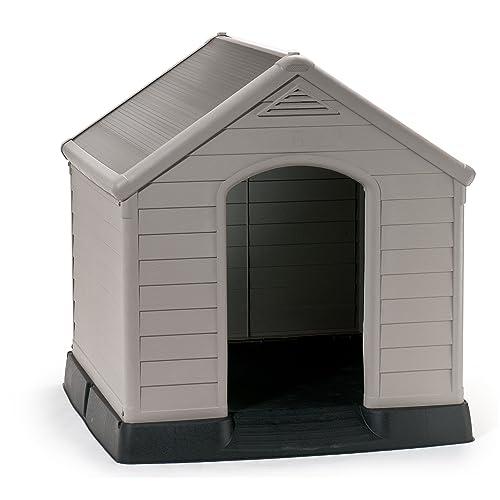 Keter - Casas de perros para jardín. Color topo / beige