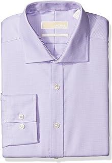 70bda7e36e4 Michael Kors Men s Long Sleeve Slim Fit Non-Iron Dress Shirt
